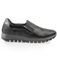 Γυναικείο ανατομικό δερμάτινο sneaker με λάστιχο IMAC 608250