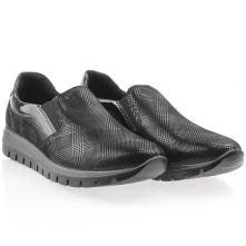 Γυναικείο ανατομικό δερμάτινο sneaker με λάστιχο IMAC 608250 2