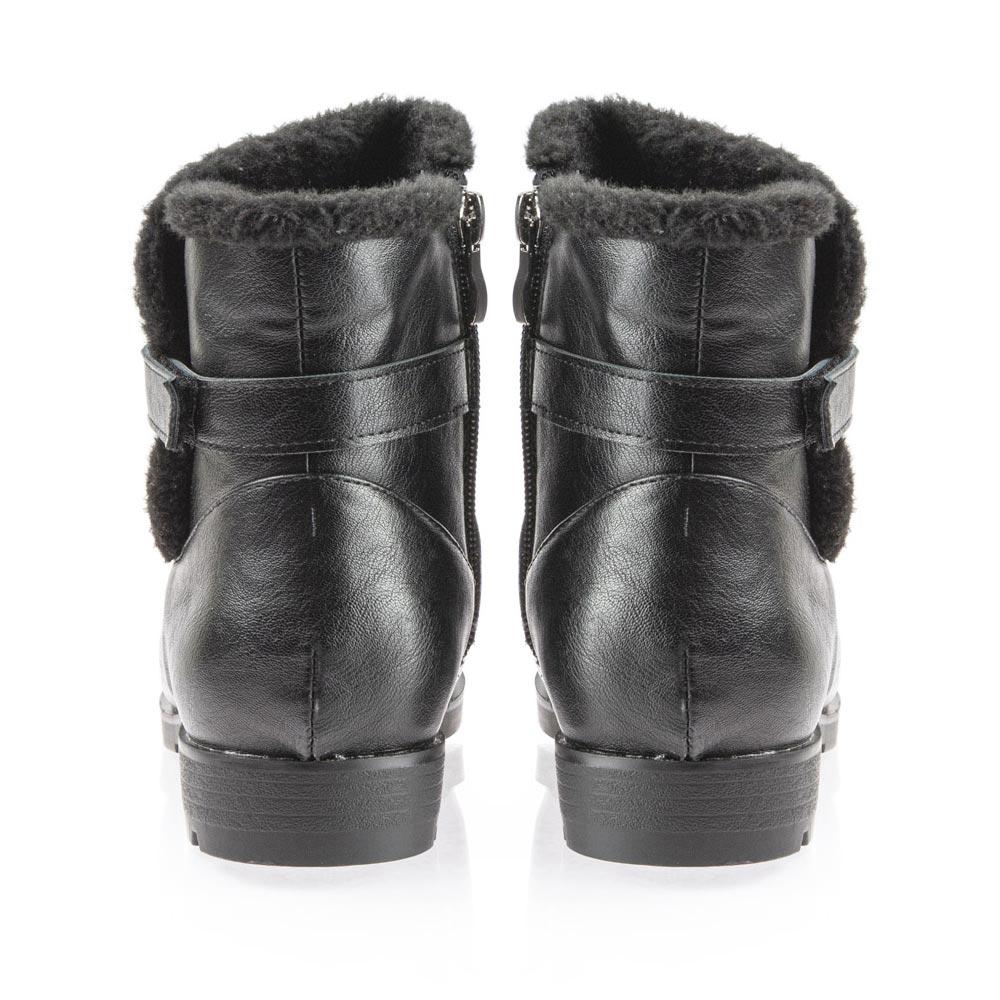 Γυναικείο μποτάκι γούνα μαύρο Antrin BL2014-4