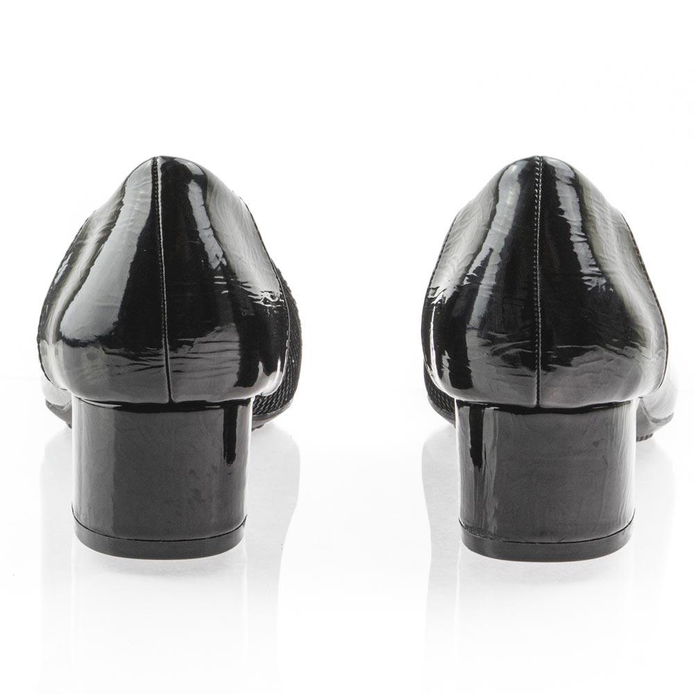 Γυναικεία γόβα μαύρη λουστρίνι B-Soft 1852-25