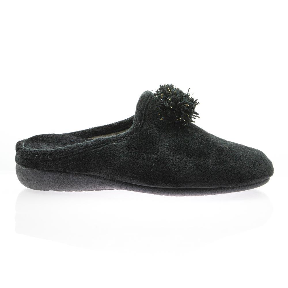 Γυναικεία παντόφλα μαύρη ADAMS SHOES 1-701-20520-29