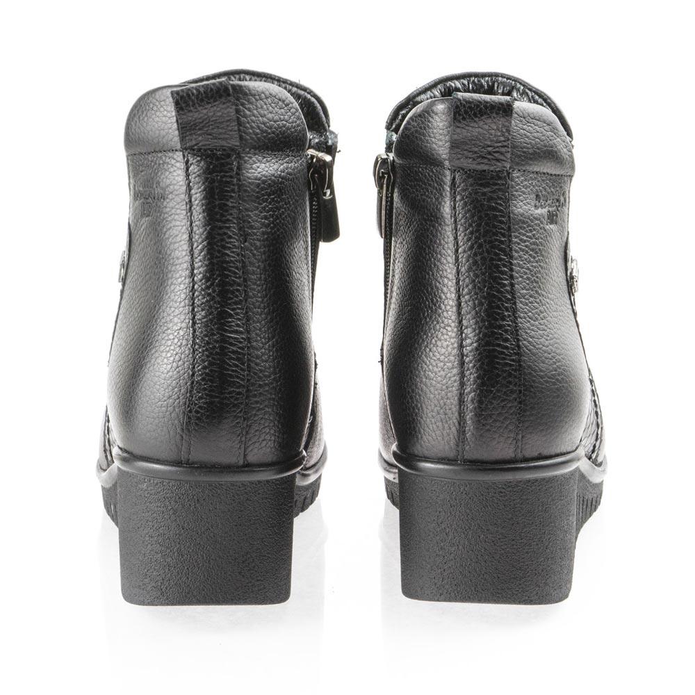 Γυναικείο μποτάκι δέρμα μαύρο Boxer 97002 10-011