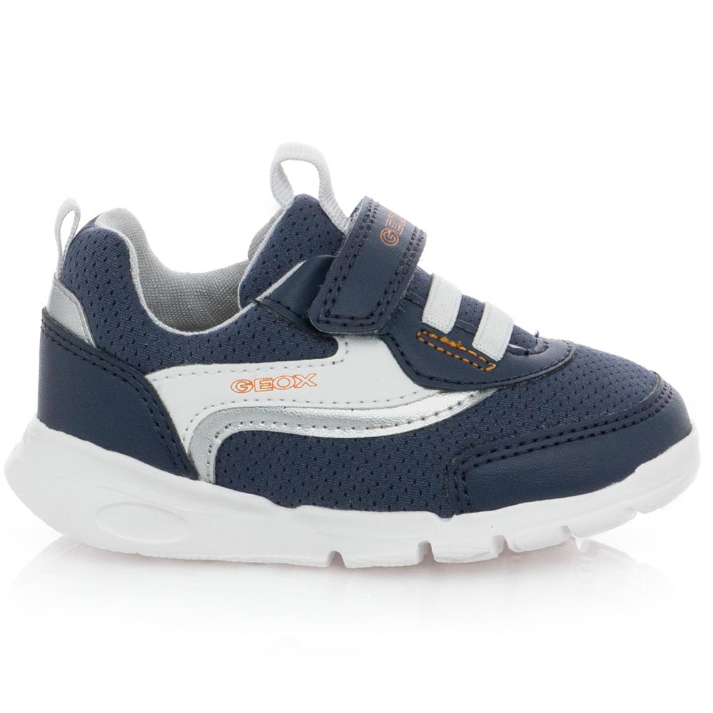 Αγόρι baby sneaker casual sport ελαστ.κορδόνι και σκράτς. GEOX Β15Η8Β 01454 C0659