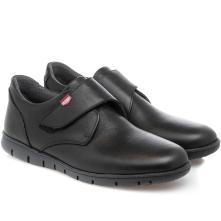 Ανδρικό δέρμα μαύρο σκράτς Velcro ON FOOOT 8902 2