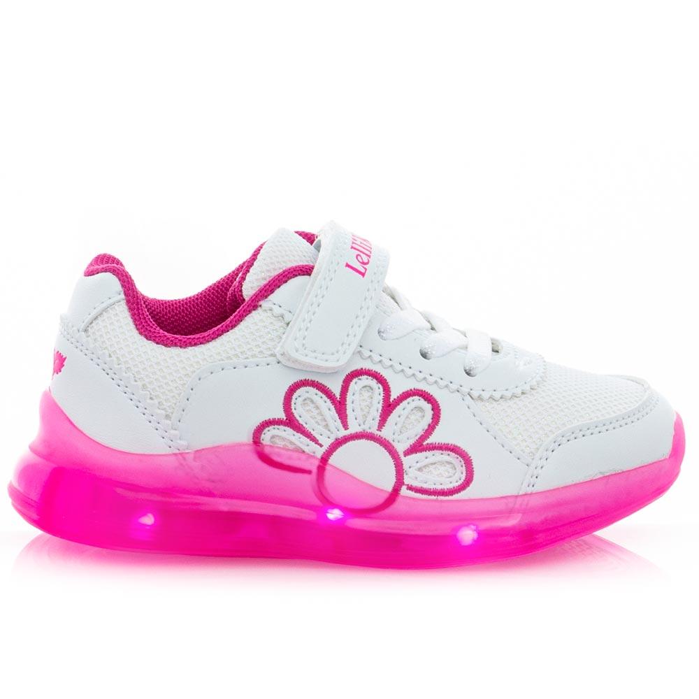 Κορίτσι Sneaker φωτάκια άσπρο LK7878
