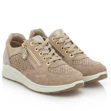 Γυναικείο Sneaker μπέζ δέρμα IMAC  ΙΜΑ/706840 2