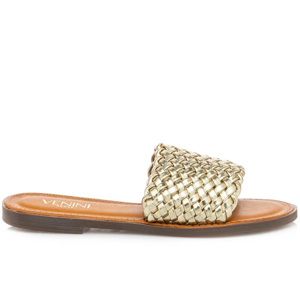 Γυναικείο σανδάλι χρυσό Venini  S37-13268-59