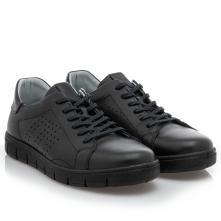 Ανδρικό Sneaker κορδόνι δέρμα μαύρο Boxer 19065 10-011 2