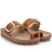 Γυναικείο σανδάλι δέρμα taupe Fantasy Sandals S320 2