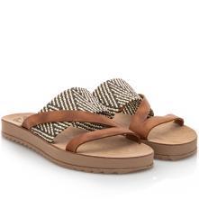 Γυναικείο σανδάλι δέρμα Taupe Fantasy Sandals S8021 2