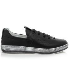 Γυναικείο sneaker δέρμα μαύρο Boxer 96028 10-011