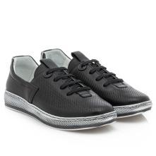 Γυναικείο sneaker δέρμα μαύρο Boxer 96028 10-011 2