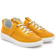 Γυναικείο sneaker δέρμα κίτρινο   Boxer 96028 10-015 2