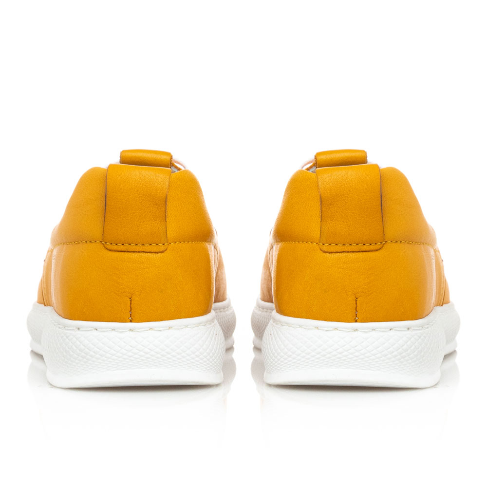 Γυναικείο sneaker δέρμα κίτρινο   Boxer 96028 10-015