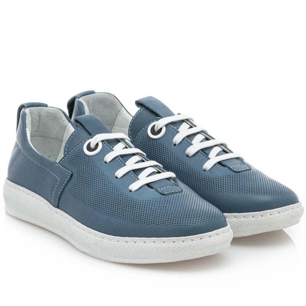 Γυναικείο sneaker δέρμα μπλέ   Boxer 96028 10-016