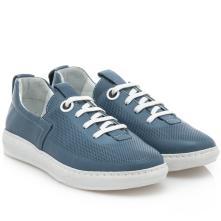 Γυναικείο sneaker δέρμα μπλέ   Boxer 96028 10-016 2