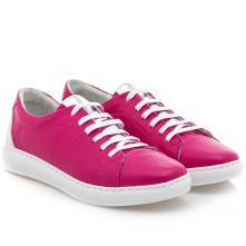 Γυναικείο Sneaker δέρμα φούξια Boxer 96029 10-022 2