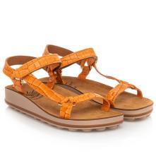 Γυναικειο πέδιλο δερμάτινο ανατομικό με τεχνολογια bubbles και σκράτς. Sunny sandals Belinda-24 2