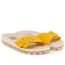 Γυναικέια ανατομική παντόφλα δέρμα με φάσα .Τεχνολογία bubbles sunny sandal Belinda-28 2