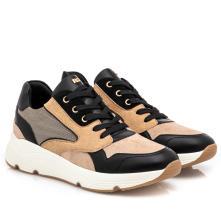 Γυναικείο sneaker καστόρι με κορδόνι Renato Garini Ν119R117219Μ 2
