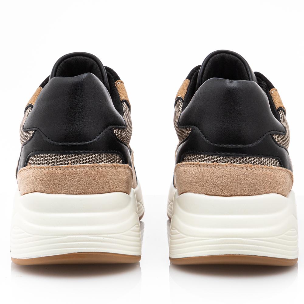 Γυναικείο sneaker καστόρι με κορδόνι Renato Garini Ν119R117219Μ