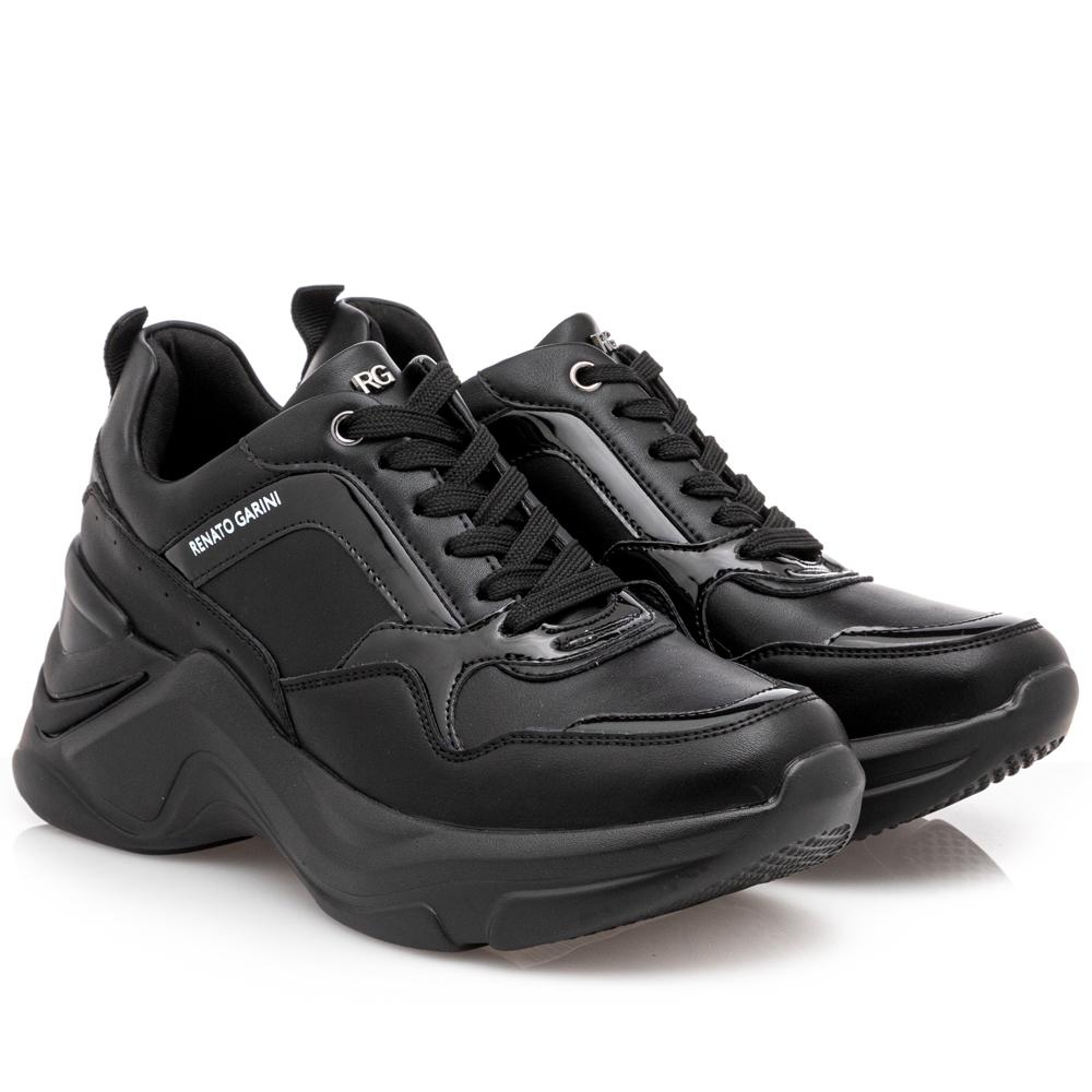 Γυναικείο sneaker total black Renato Garini Ν119R617306J