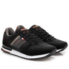 Ανδρικό sneaker Renato Garini μαύρο  κορδόνι L502Χ0812001. 2
