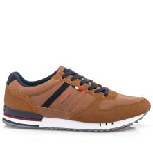 Ανδρικό sneaker ταμπά με  μπλέ κορδόνι. Renato Garini L502Χ0812531.