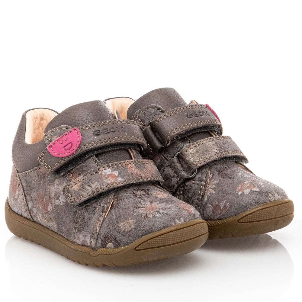 Bebe Kορίτσι  Δέρμα παπούτσι GEOX  smoke grey flowers  Β164ΡΑ  00746  C1115