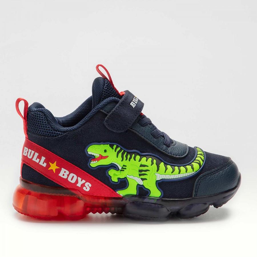 Αγόρι αθλητικό sneaker φωτάκια Suede Bull Boys BB2131