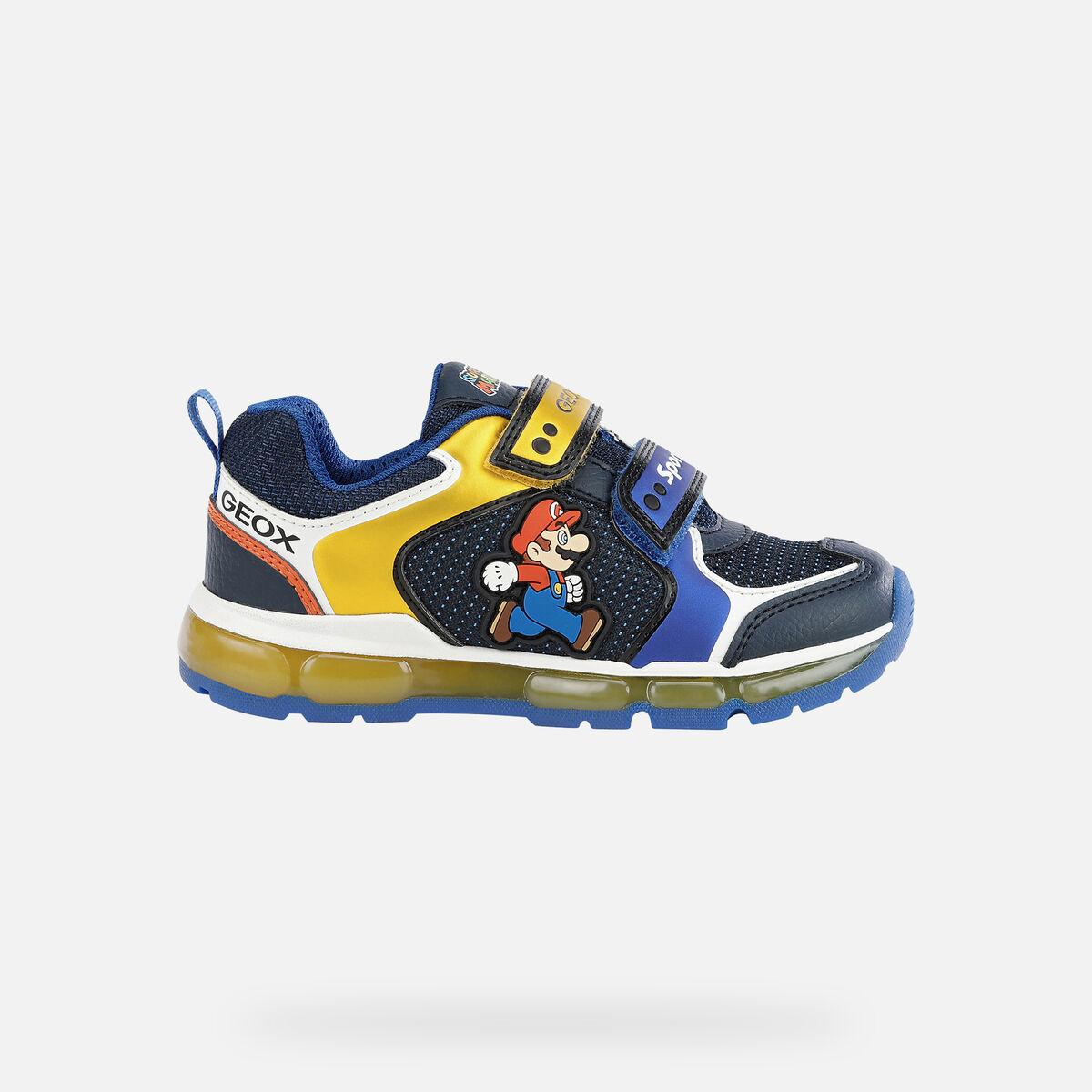 Αγόρι Sneaker Suer Mario φωτάκια  μπλέ J1644Α 0FU50 C0335