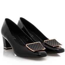 Γυναικέια γόβα λουστρίνι μαύρο B-Soft 993-57 2