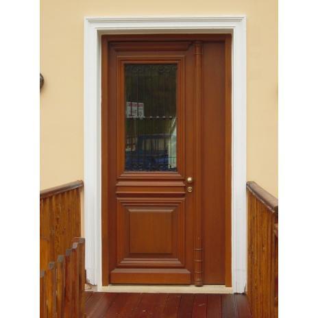 Νεοκλασική πόρτα εισόδου μονόφυλλη
