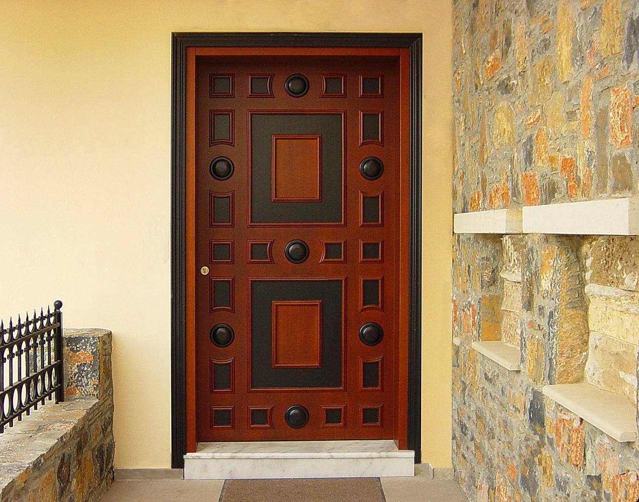Νεοκλασική πόρτα εισόδου Κ104_a