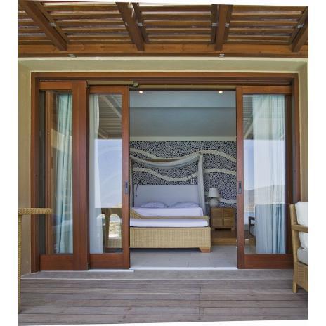 Balcony door sliding
