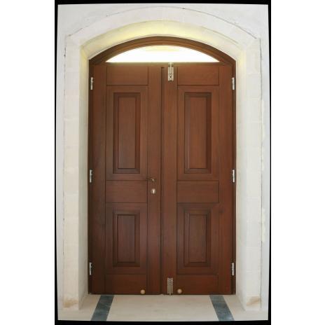 Πόρτα εκκλησιαστική δίφυλλη με φεγγίτη