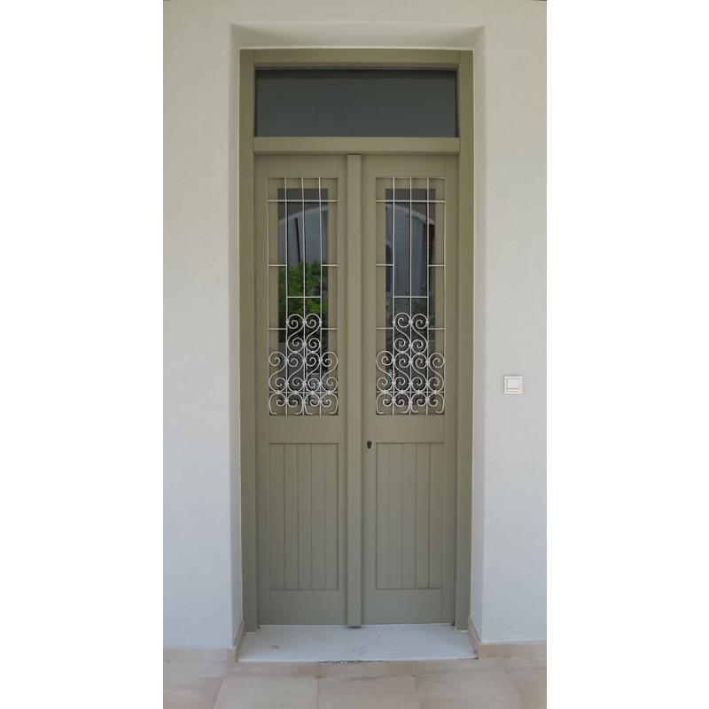Παραδοσιακή πόρτα εισόδου Κ303_2_fs