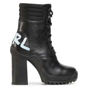 KARL LAGERFELD ankle lace logo boot KL30156