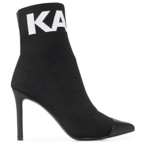 KARL LAGERFELD hi knit collar ankle boots KL31361