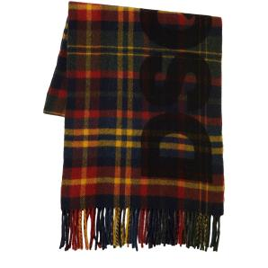 DSQUARED2 Checked Virgin Wool Scarf In Green