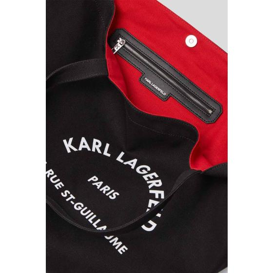 Karl lagerfeld k/rue st.guillaume canvas tote 201W3138-2