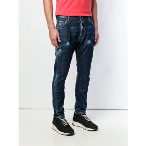 DSQUARED2 Blue Kenny Twist Denim In Cotton By Dsquared S74LB0506