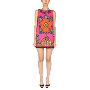 VERSACE JEANS Printed Midi Dress In Multicolor 71HAO9P3