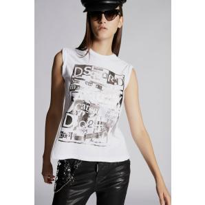 DSQUARED2 COTTON VISCOSE JERSEY VICIOUS T-SHIRT S75GC0983