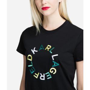 KARL LAGERFELD CIRCLE LOGO T-SHIRT 91KW1728