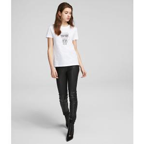 Karl Lagerfeld k/ikonik rhinestone t-shirt 201W1700