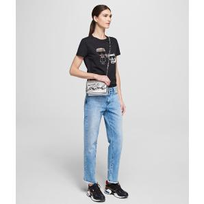 Karl lagerfeld iconic rhinestone t-shirt 201W1770