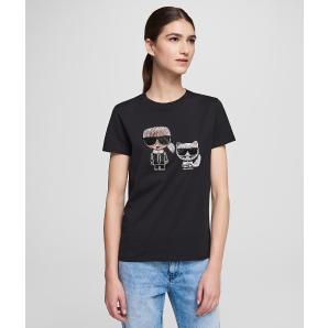 Karl Lagerfeld ikonik rhinestone t-shirt 201W1770