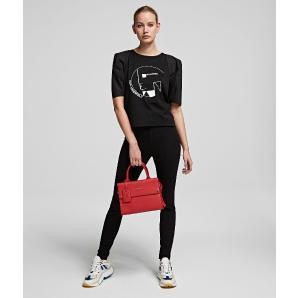Karl Lagerfeld puff sleeve bauhaus top 201W1740