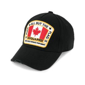 DSQUARED2 Canadian flag patch baseball cap BCM401105C00001